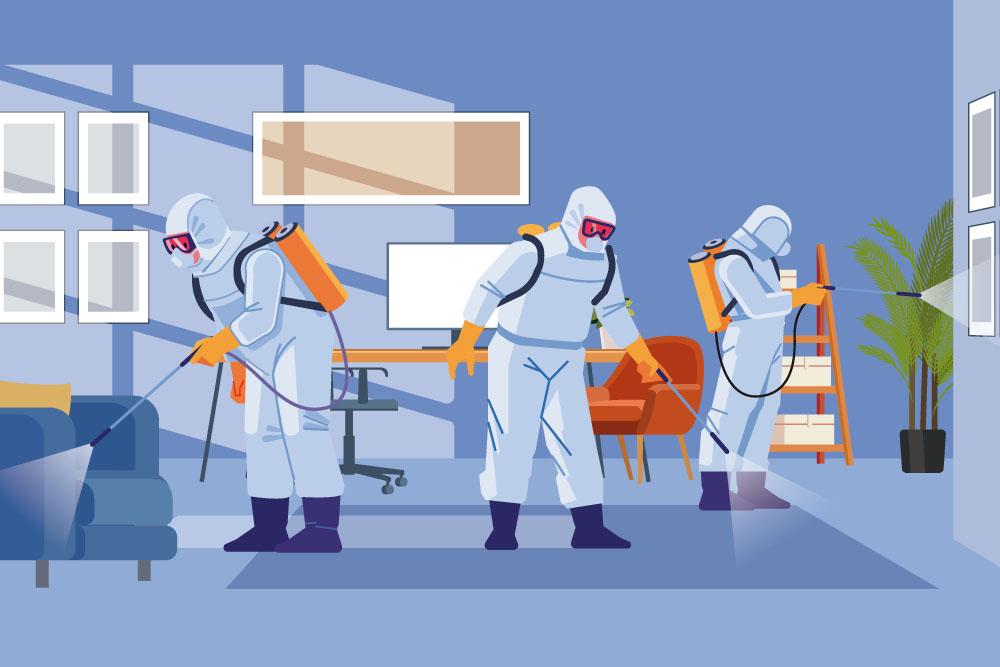 Desinfecção de ambientes